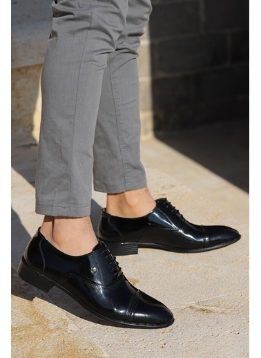 Ayakland Ayakland P546 Rugan %100 Deri Klasik Erkek Ayakkabı Siyah